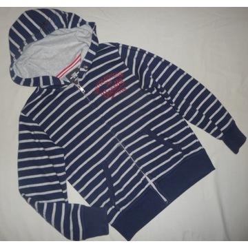 H&M bluza w paski z kapturem 140 146