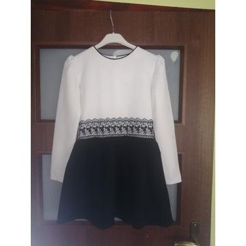 Elegancka Sukieneczka  czarno-biała rozm.146
