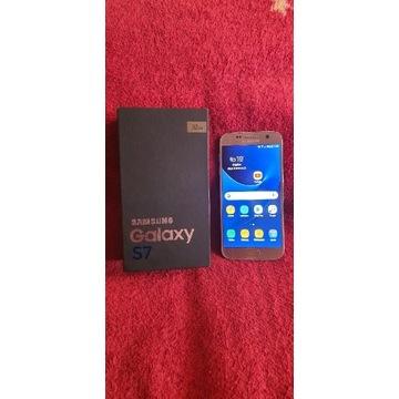 Samsung s7 Złoty cały zestaw Stan B.Dobry