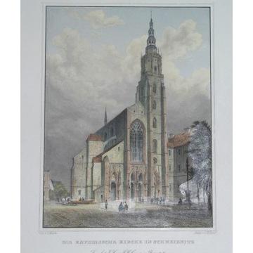 1850 ORYGINAŁ ŚWIDNICA SCHWEIDNITZ ŚLĄSK kolor