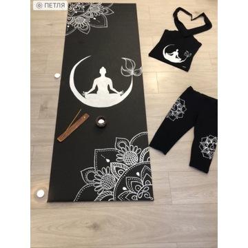 Ręcznie malowany karimat do jogi lub ćwiczeń