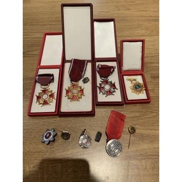 Odznaki medale PRL