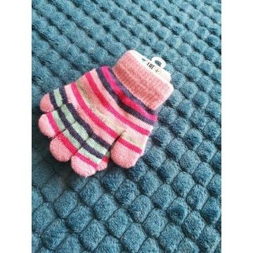 Nowe rękawiczki dla dziewczynki, rozm 14 cm