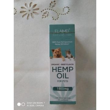 Olejek konopny CBD dla psa kota 5% 30ml 1500 mg