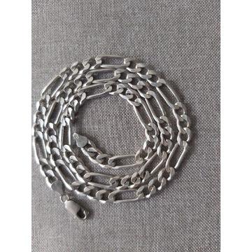 Srebrny łańcuszek męski Figaro pr.925