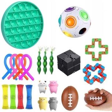 22 Pcs Fidget Cube zestaw Antystresowe zabawki