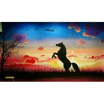 Malowanie artystyczne ścian, pokoi dziecięcych