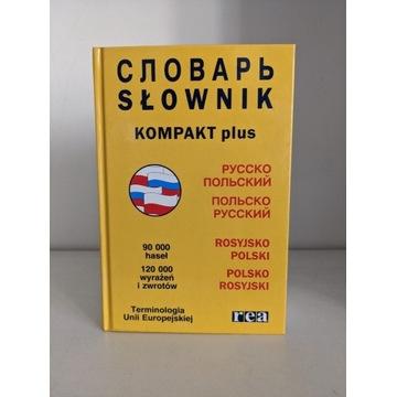 Słownik rosyjsko - polski pol-ros Kompakt plus