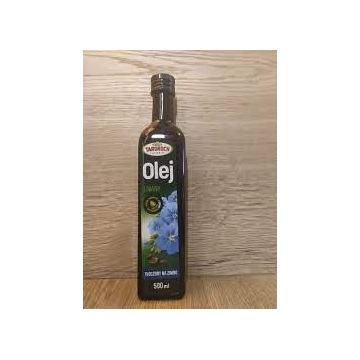 Olej Lniany TŁOCZONY NA ZIMNO Targroch 500 ml.