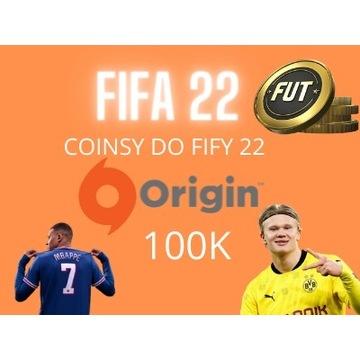 FIFA 22 100K COINS PC ORIGIN monety fut coin