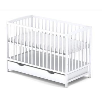Łóżeczko niemowlęce /tapczanik z szufladą Białe