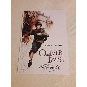 Roman Polański Oliver Twist, plakat z autografem