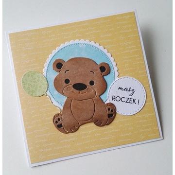 kartka na roczek pierwsze urodziny