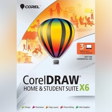 CorelDRAW X6 PL na 3 PC domowy Corel DRAW