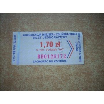 Bilet Zduńska Wola