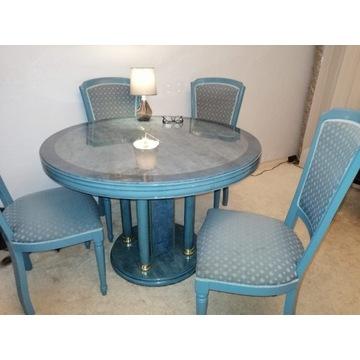 Meble do salonu komplet= Stół + 6 krzeseł + komoda