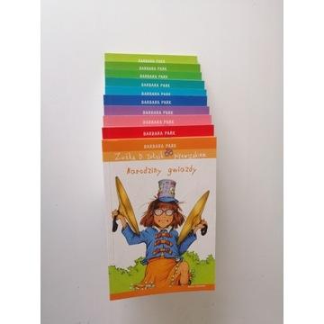 """10 książek z cyklu """"Zuźka D. Zołzik pierwszakiem"""""""