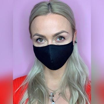 CZARNA maseczka Fashion, StreetWear! JAKOŚĆ maska