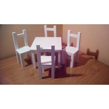 Jadalnia-Stół+4 Krzesła dla lalek max 30cm