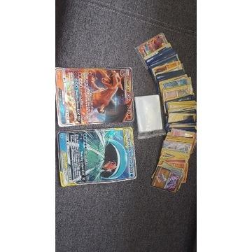 Karty POKEMON 145 sztuk + folie 100 sztuk