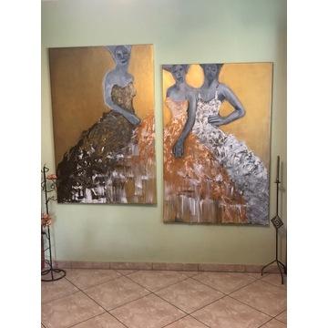 Komplet obrazów ręcznie malowanych
