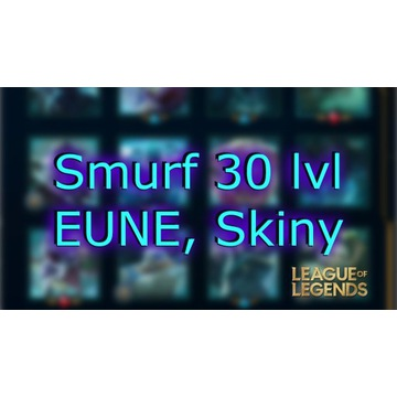 Konto LoL League of Legends EUNE Smurf Skiny 30lvl