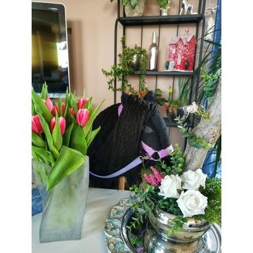 Koń Hobby Horse na kijku - Czarny Książe