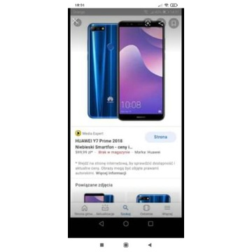 Huawei Y7 Prime 2018 full komplet
