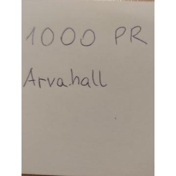 1000 PUNKTÓW ROZWOJU DO INWENTARZA ARVAHALL