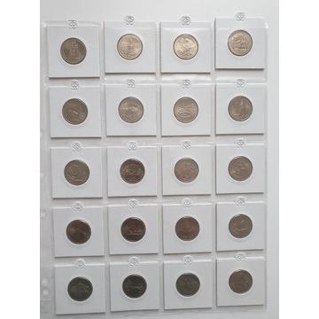 USA 25 cent dollar parki zestaw 52 monet 2010-2020