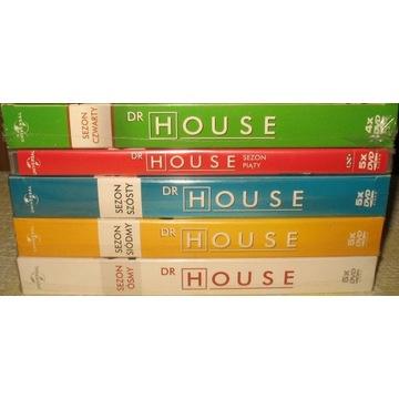 Dr House. Sezony 4-5-6-7-8. Nowe, w folii.
