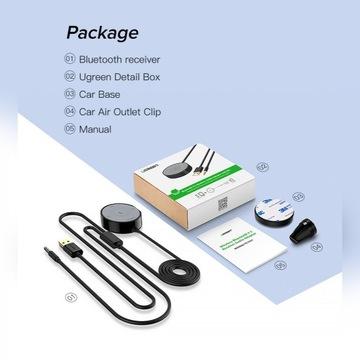Bluetooth - aux UGREEN 3,5 jack do samochodu apTX