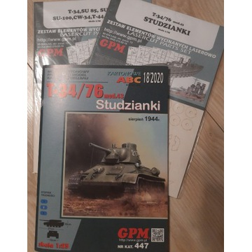 GPM 447 T-34/76 MOD 43 STUDZIANKI + LASERY