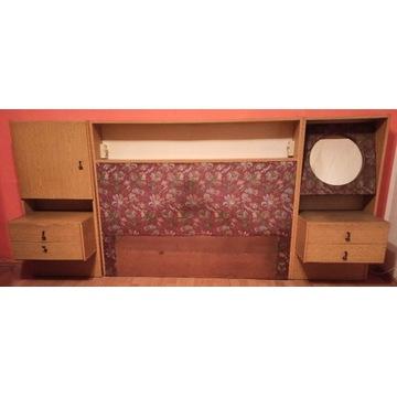 zestaw mebli PRL szafki nocne nadstawka nad łóżko