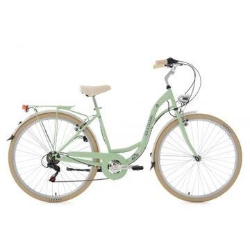 Damski Rower Miejski 28 Światła Bagażnik 6 Biegów