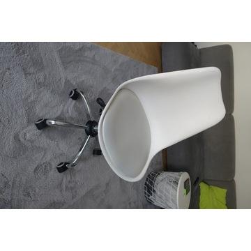 Krzesło obrotowe - regulowane białe