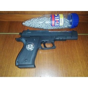 Zestaw pistolet na kulki 6mm + kulki 1500 sztuk
