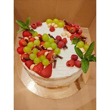 TORT śmietankowy owocowy zamówienie ciasto DOWÓZ