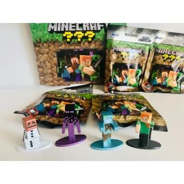 Metalowe figurki 8 szt Minecraft Nano Metalfigs