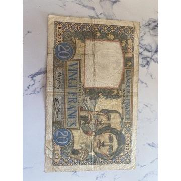 Banknot vingt francs 20