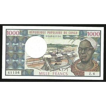 KONGO 1000 FRANKÓW 1978 P#3c ABOUT UNC