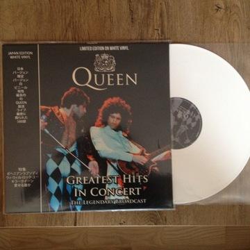 Queen GREATEST HITS IN CONCERT white vinyl