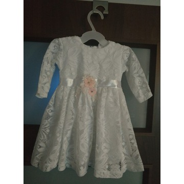 Koronkowa sukienka do chrztu 62/68