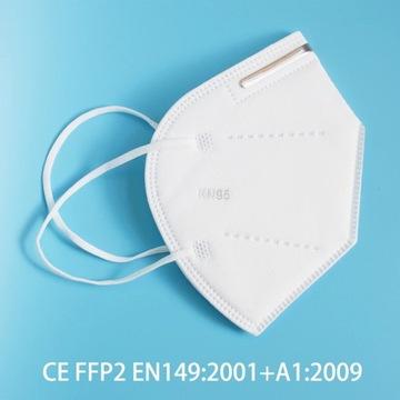 Maseczka FPP2 KN95 | 95% filtracji | 10 szt.