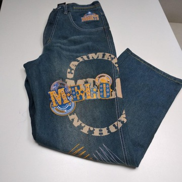 Spodnie vintage 90' baggy NBA Denver Nuggets