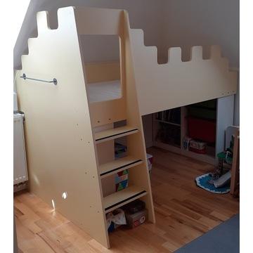 Łóżko piętrowe, na antresoli z przechowywaniem