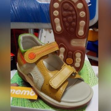 Buty sandałki Memo szafir profilaktyczne r.23, 24