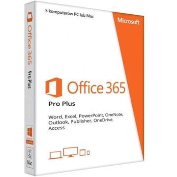 Microsoft Office 365 PC/MAC 12miesięcy