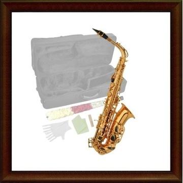 Saksofon altowy Steinbach złoty akcesoria M105
