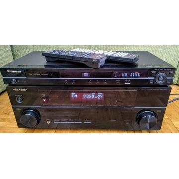 Amplituner wzmacniacz Pioneer VSX-820 i DVD-420V
